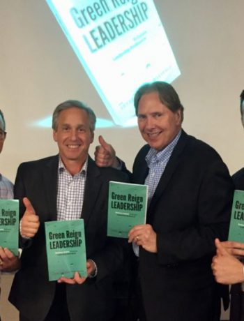 Sharp executives at a book promotion event.