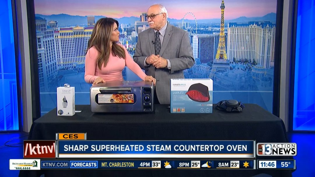 Sharp Superheated Steam Countertop Oven news clip from ABC13.