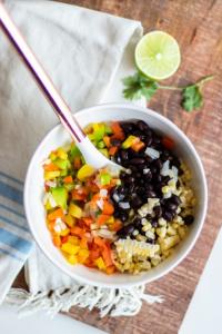 The Veggies for the Vegetarian Enchilada Casserole Recipe