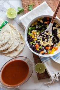 Mixed Veggies in Our Vegetarian Enchilada Casserole Recipe