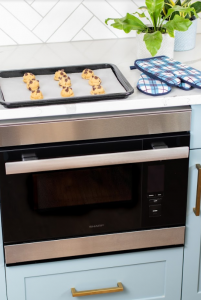 Cookies cooling atop a Sharp SuperSteam+™ Built-In Wall Oven (SSC2489DS)