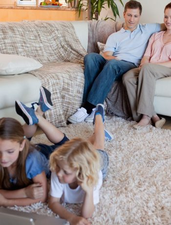 Family spending time indoors