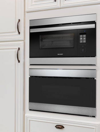 Sharp Microwave Drawer and SuperSteam Oven in kitchen