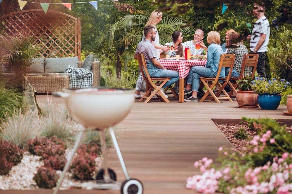 Backyard summer barbeque.