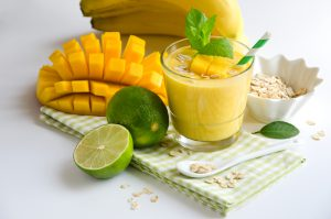 Mango lime smoothie.