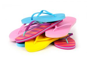 Pile of flip flops