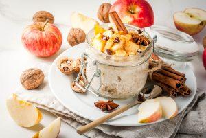 Apple pie overnight oats.