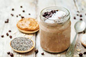Peanut butter overnight oats.