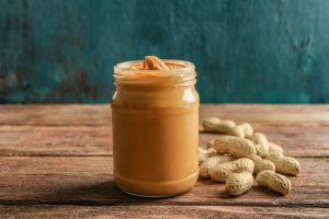 Peanut butter in a jar.