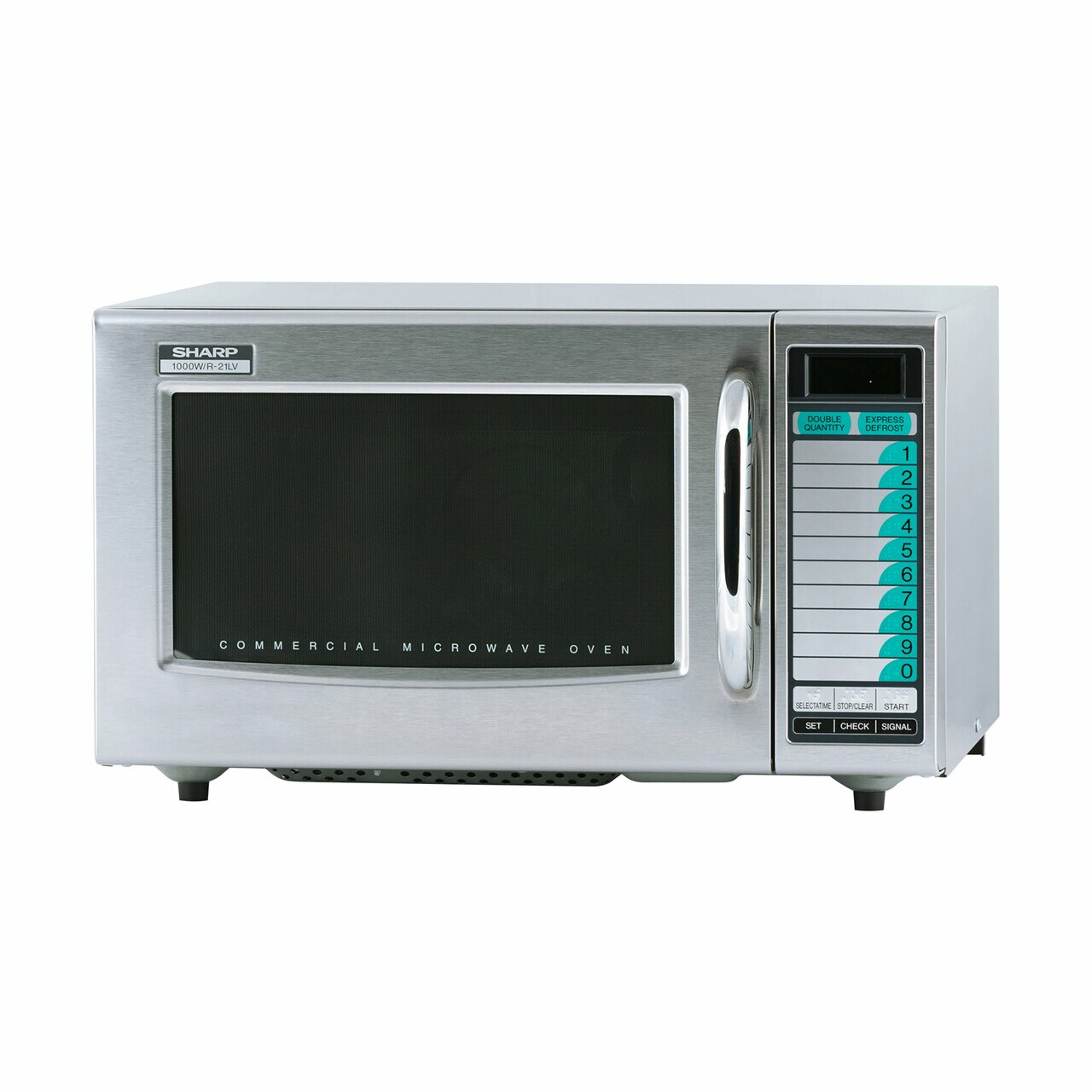 Medium Duty Commercial Microwave Oven with 1000 Watts (R21LVF) – left angle view