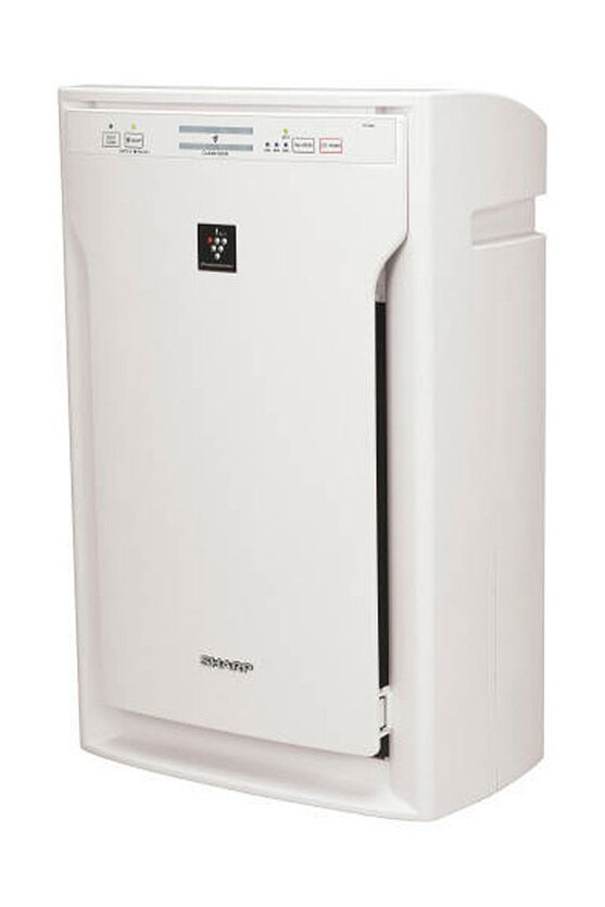 Sharp HEPA Air Purifier with Plasmacluster® Ion Technology for Extra-Large Rooms (FPA80UW) – left angle view