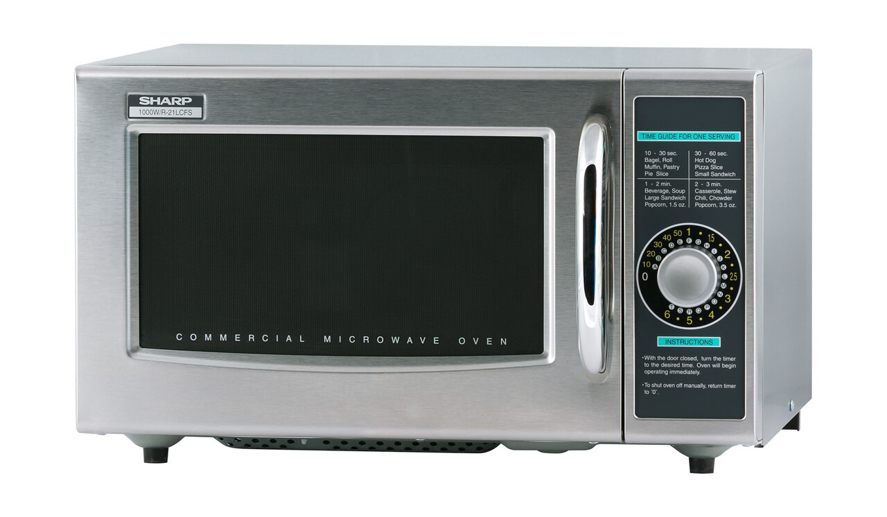 Medium-Duty Commercial Microwave Oven with 1000 Watts (R21LCFS) – left angle view
