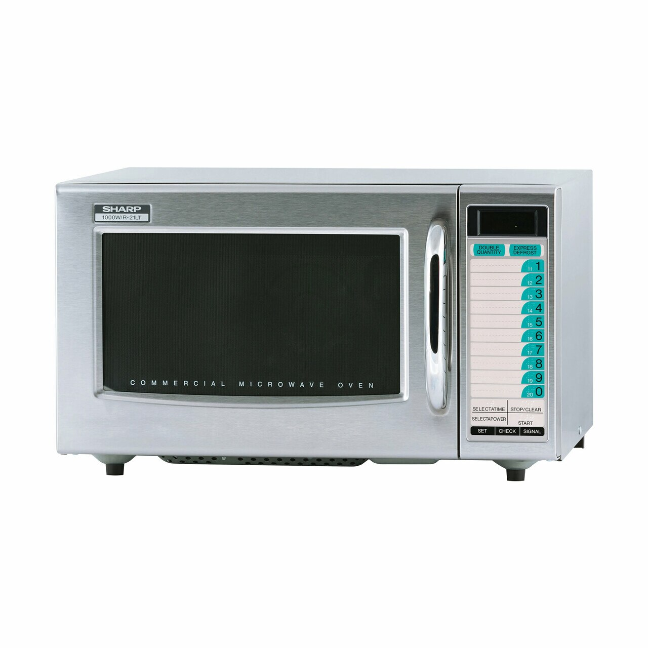 Medium Duty Commercial Microwave Oven with 1000 Watts (R21LTF) – left angle view