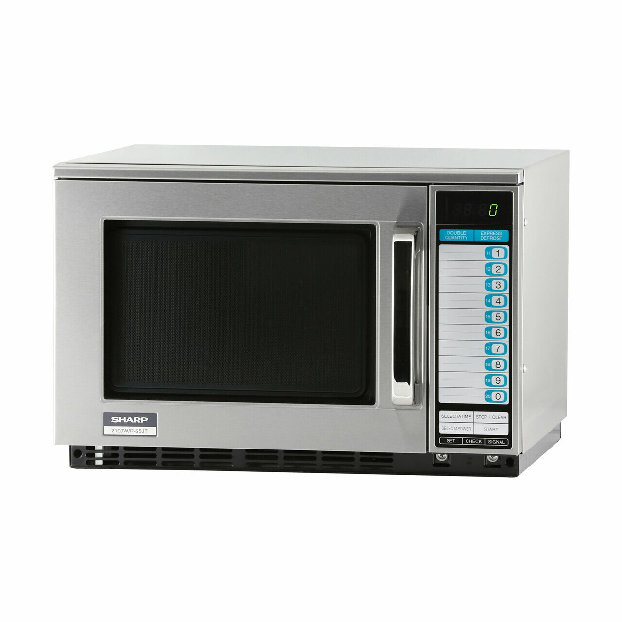 Sharp R25JTF Heavy-Duty Commercial Microwave Oven with 2100 Watts – left angle view