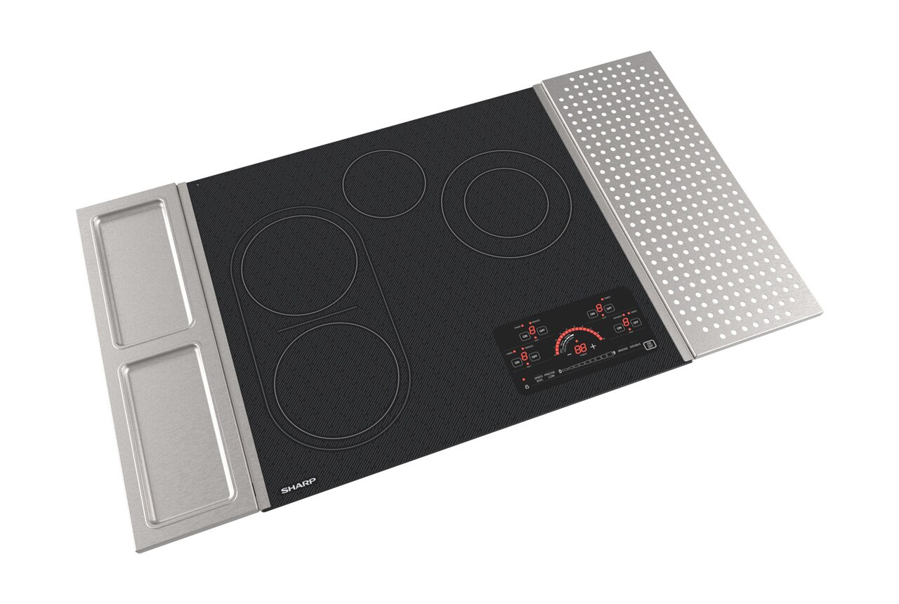 "24"" Drop-In Radiant Cooktop with Side Accessories (SCR2442FB) - right angle view"