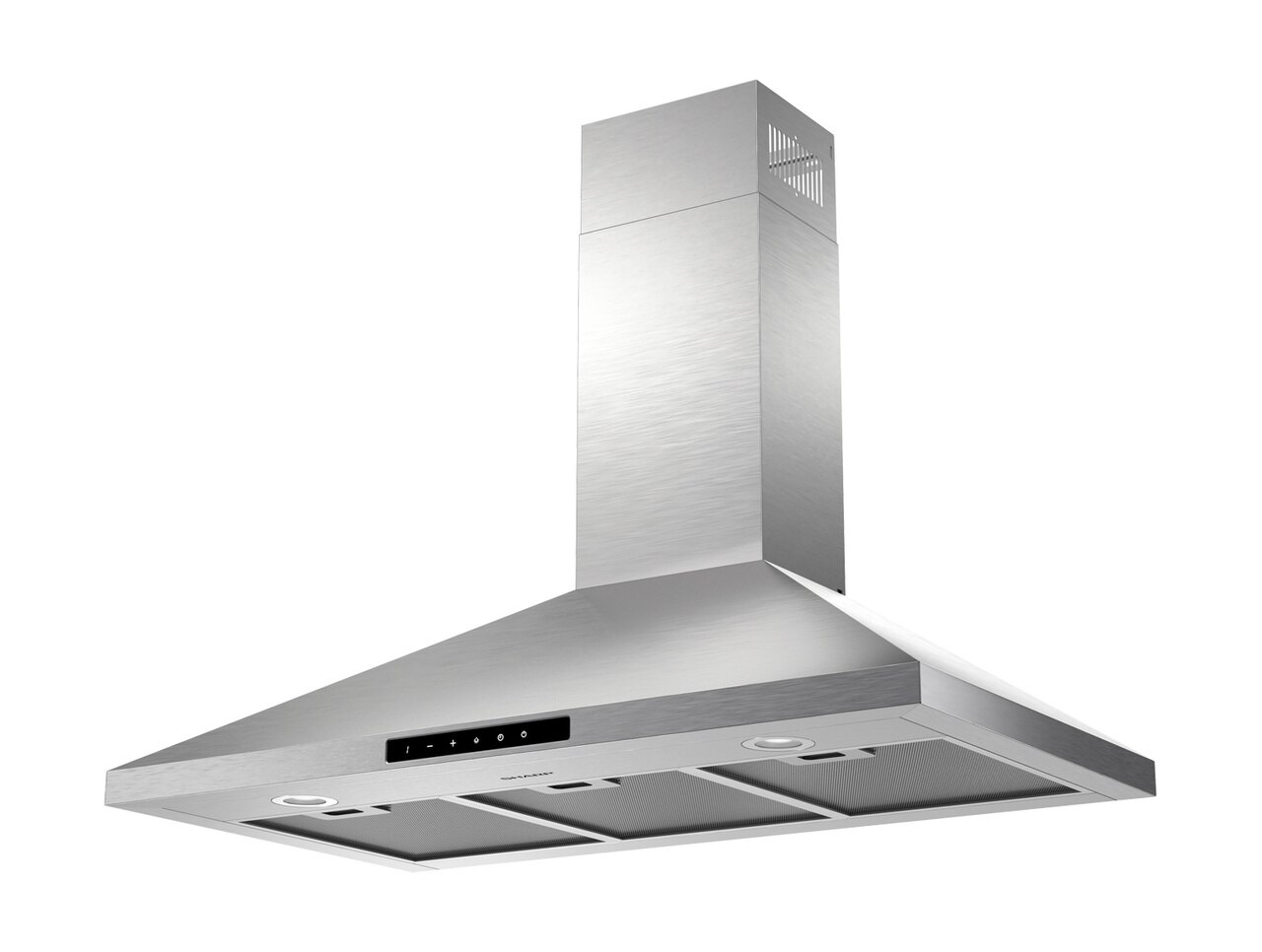 "36"" Wall Mount Chimney Range Hood (SHC3662FS) - left angle view"