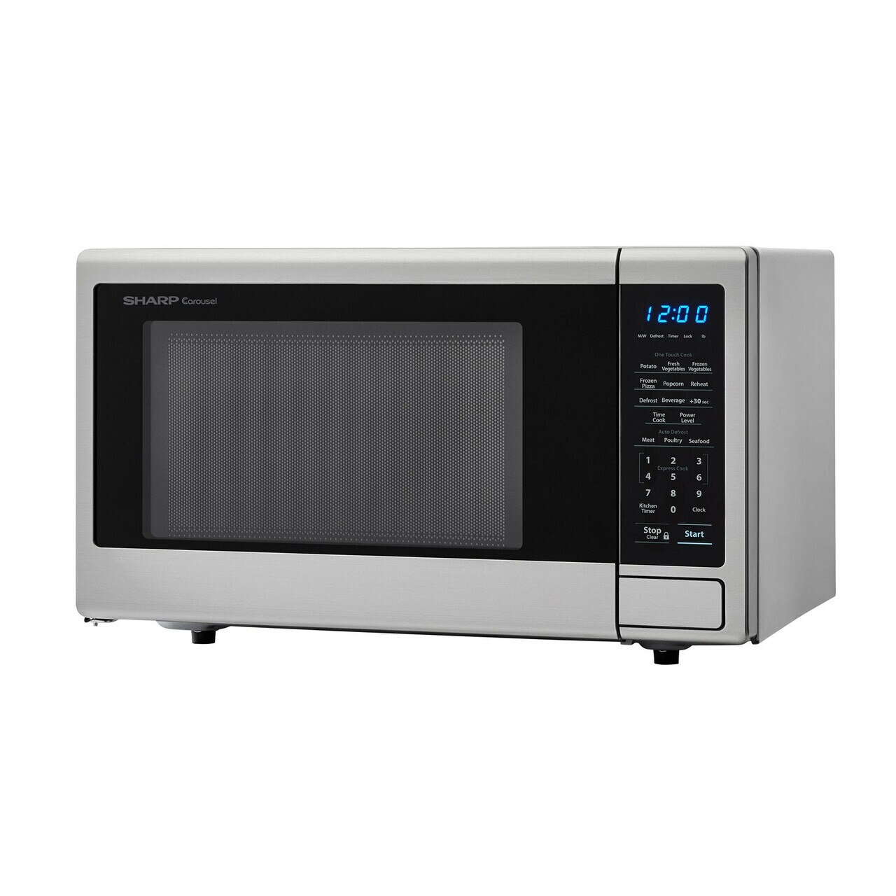 1.1 cu. ft. Sharp Stainless Steel Countertop Microwave (SMC1132CS) – left angle view