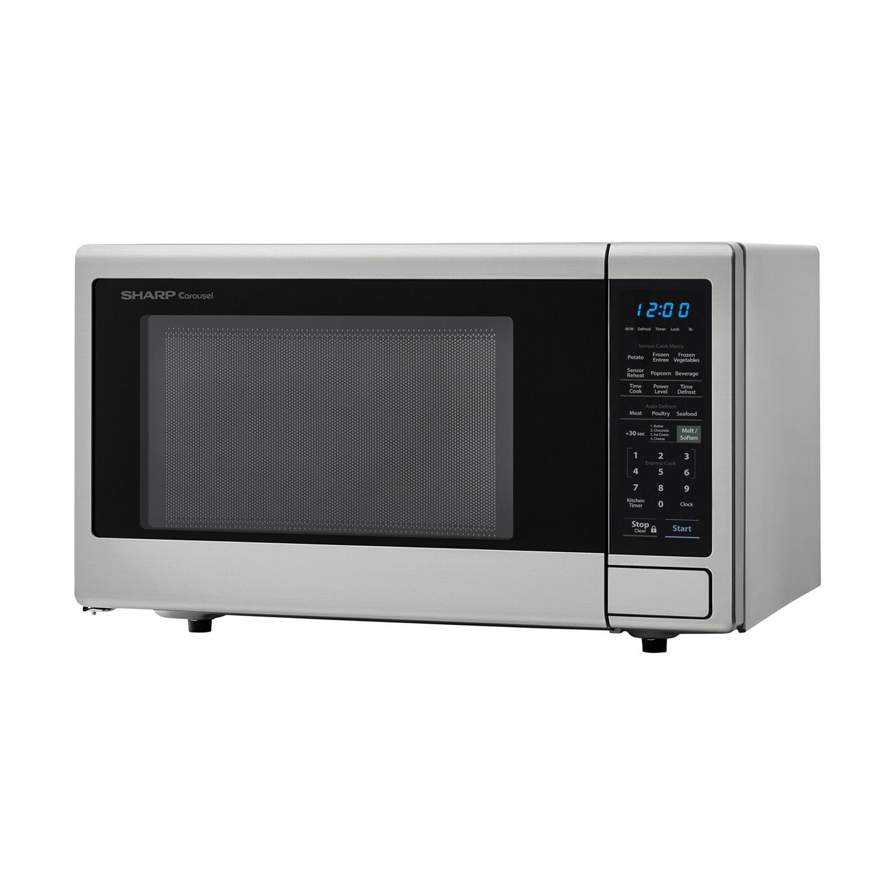 1.4 cu. ft. Sharp Stainless Steel Countertop Microwave (SMC1442CS) – left angle view