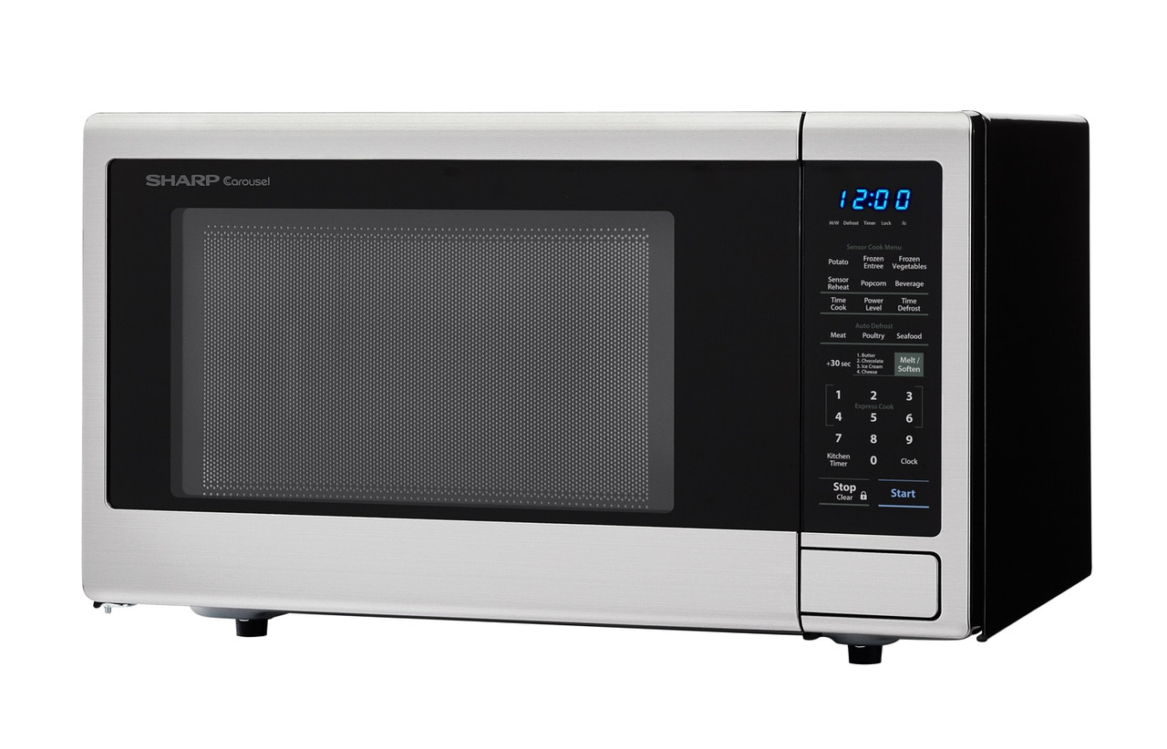 1.8 cu. ft. Stainless Steel Countertop Microwave (SMC1840CS) – left angle view