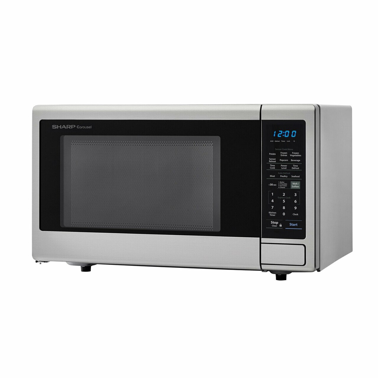 1.8 cu. ft. Sharp Stainless Steel Countertop Microwave (SMC1842CS) – left angle view