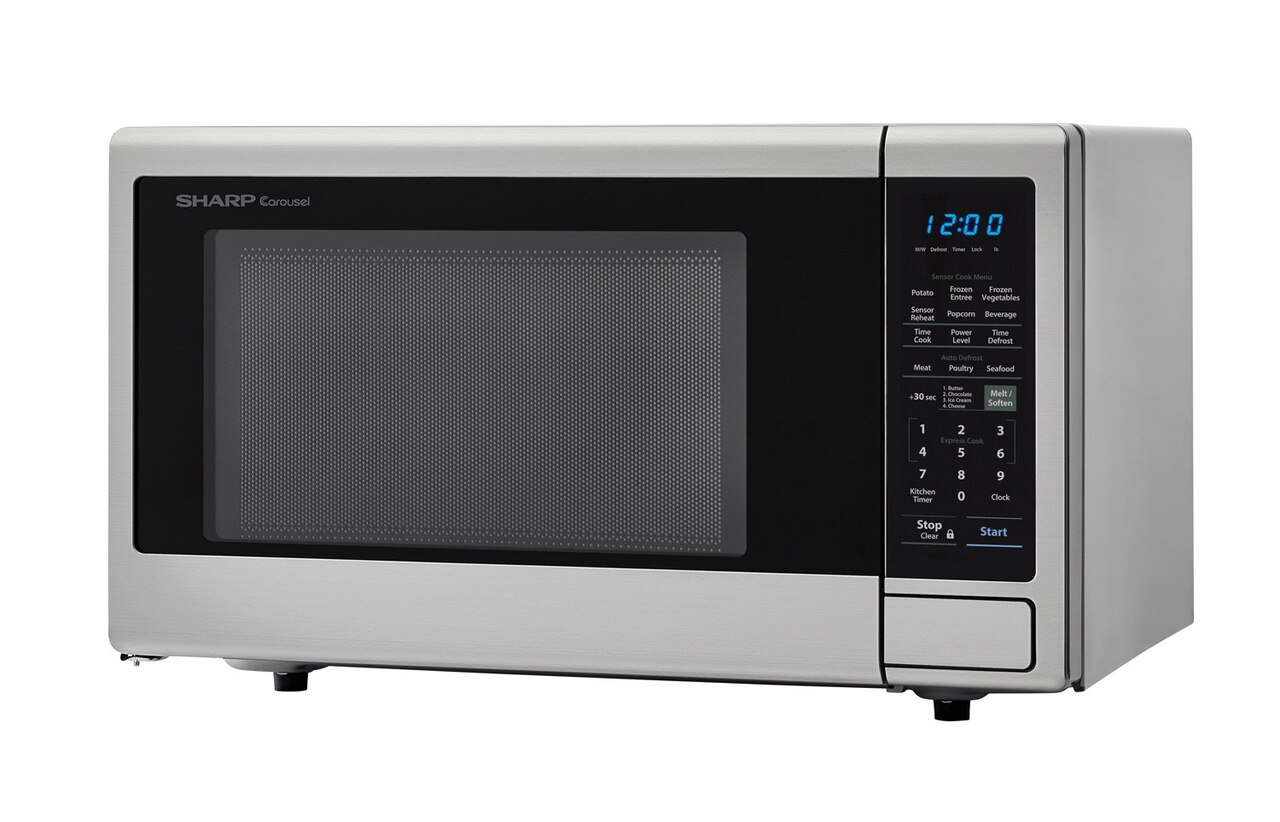2.2 cu. ft. Stainless Steel Countertop Microwave (SMC2242DS) – left angle view