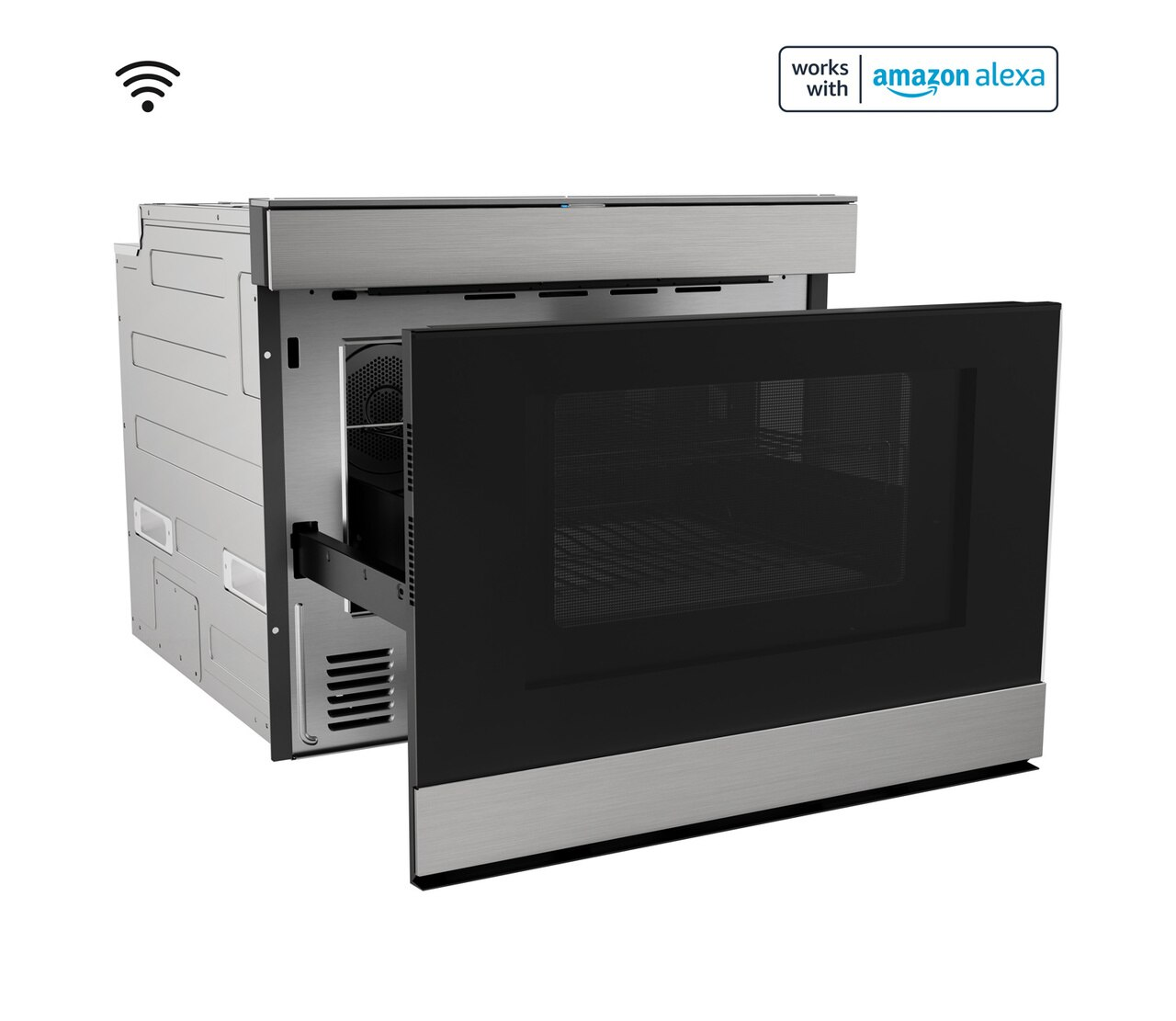 """24"""" Built-In Smart Convection Microwave Drawer Oven (SMD2499FS) Right Open"""