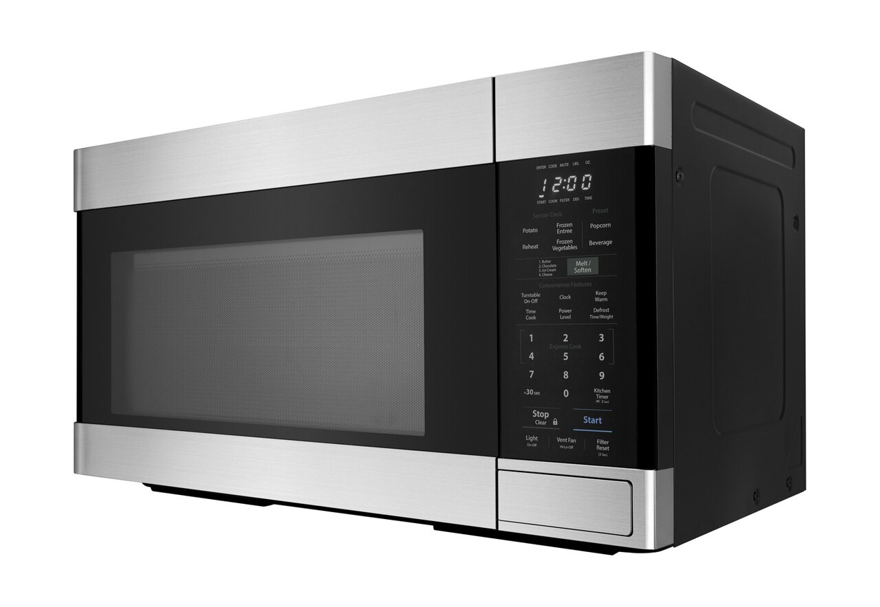 1.6 cu. ft. Stainless Steel Over-the-Range Microwave Oven (SMO1652DS) - left side view