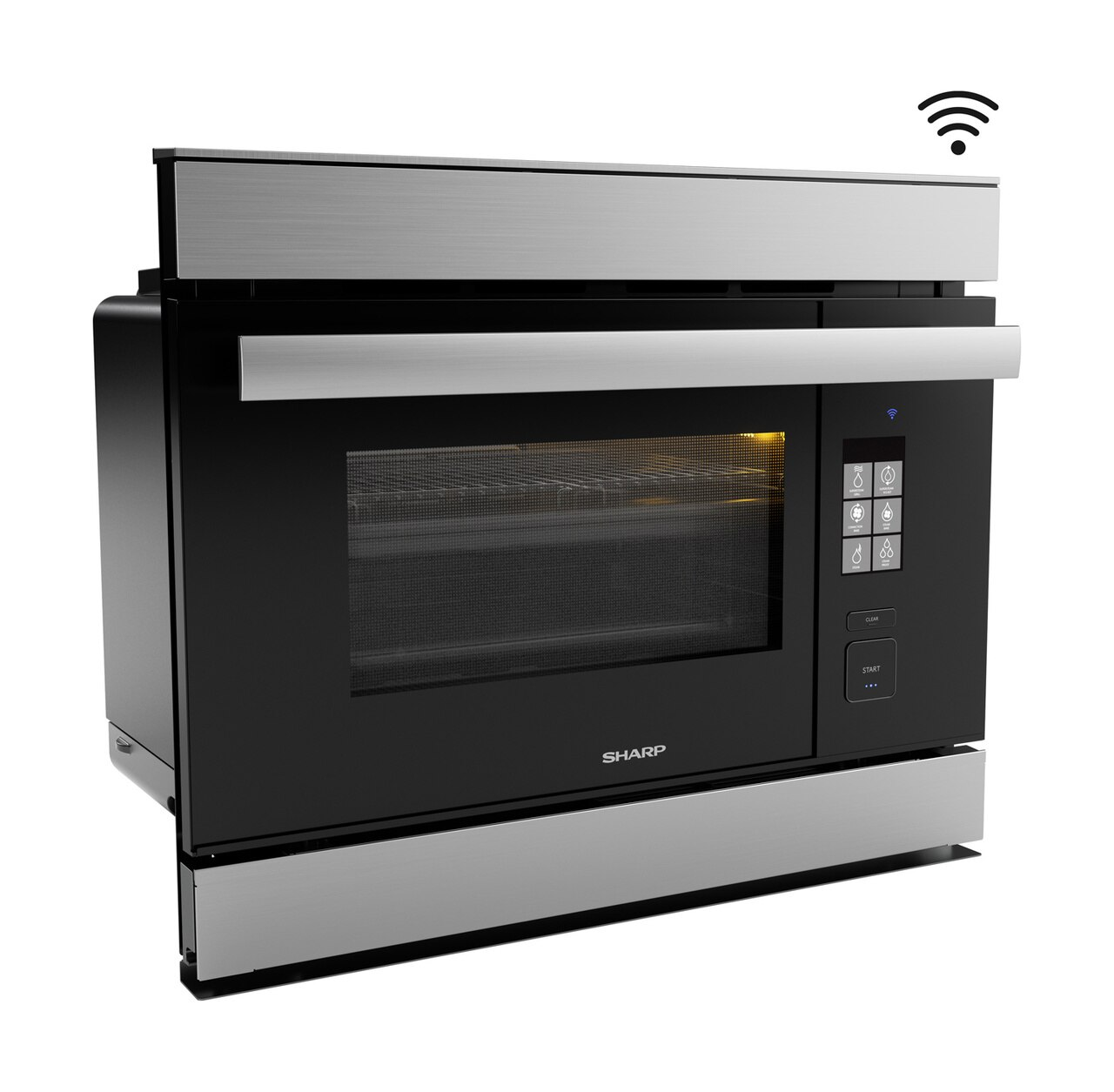 Right side view of the SuperSteam IoT Oven (SSC2489DS) - Sharp's Superheated Steam Oven