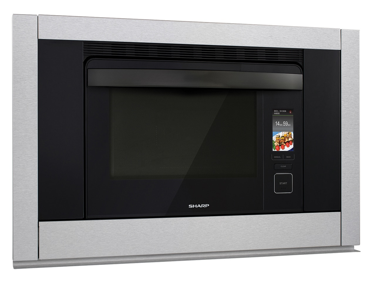 1.1 cu. ft. Supersteam+ Superheated Steam and Convection Built-in Wall Oven (SSC3088AS) – right angle view