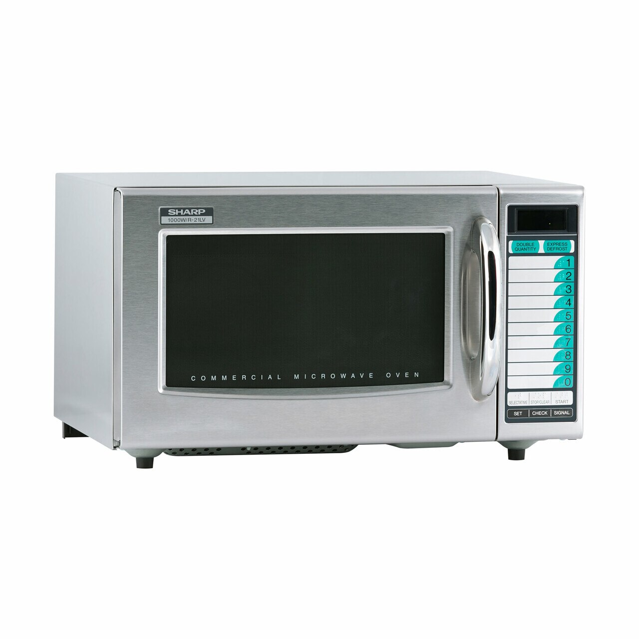 Medium Duty Commercial Microwave Oven with 1000 Watts (R21LVF) – right angle view