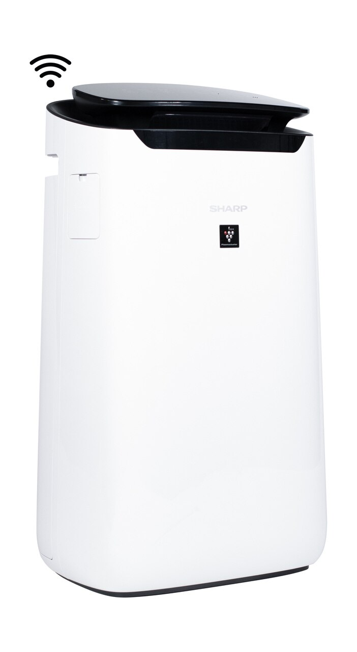 Sharp IoT Plasmacluster® Ion True HEPA Large Room Air Purifier (FXJ80UW) - right side view