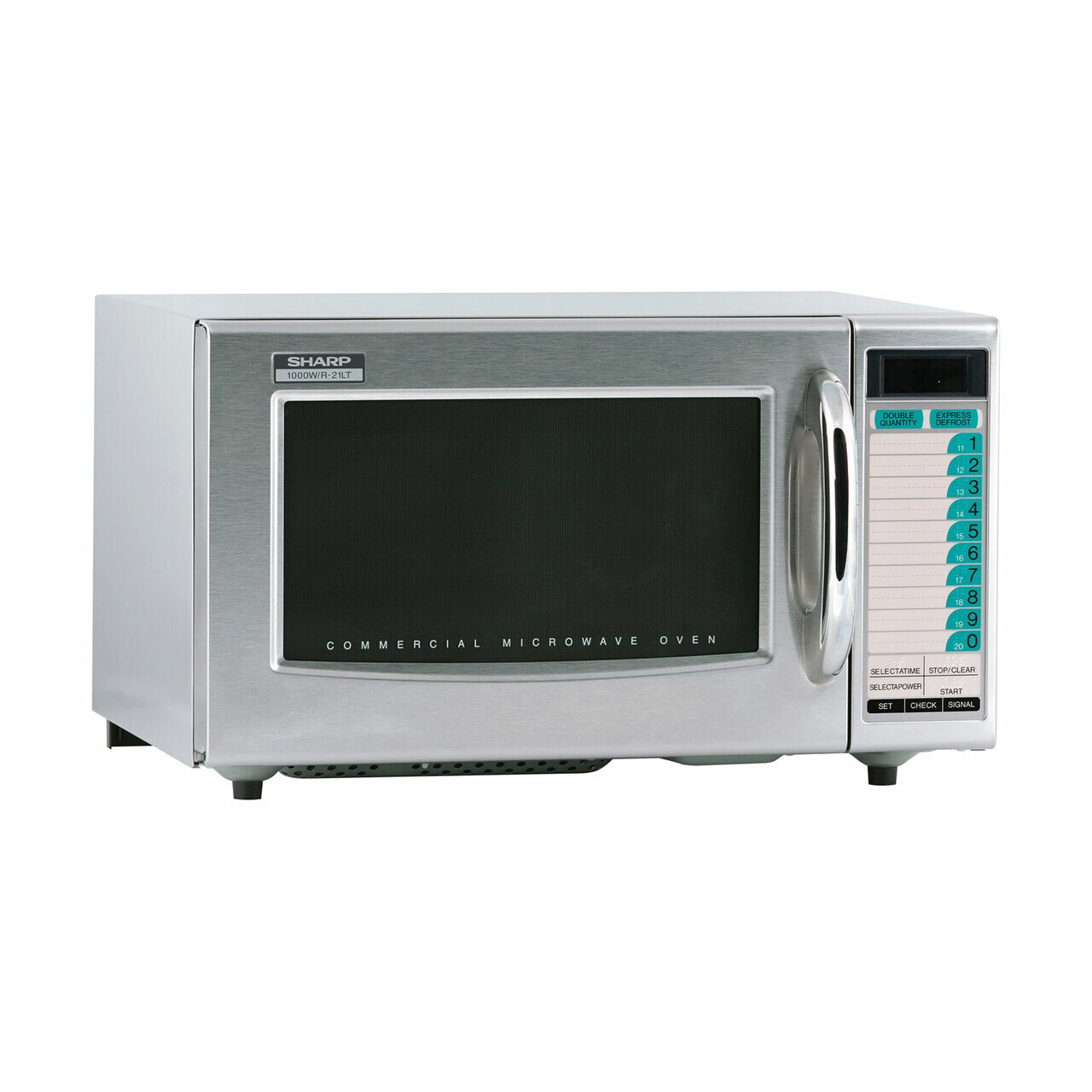 Medium Duty Commercial Microwave Oven with 1000 Watts (R21LTF) - right angle view