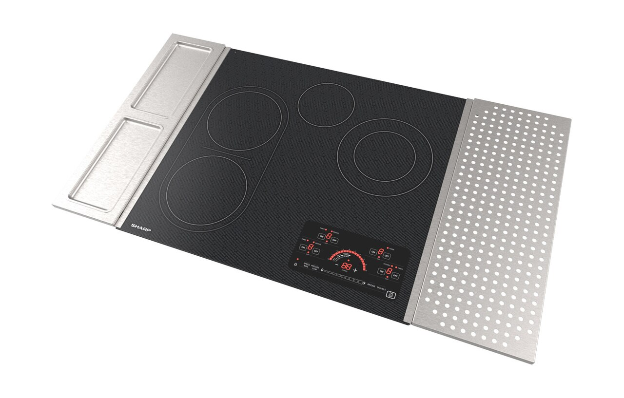 "24"" Drop-In Radiant Cooktop with Side Accessories (SCR2442FB) - left angle view"