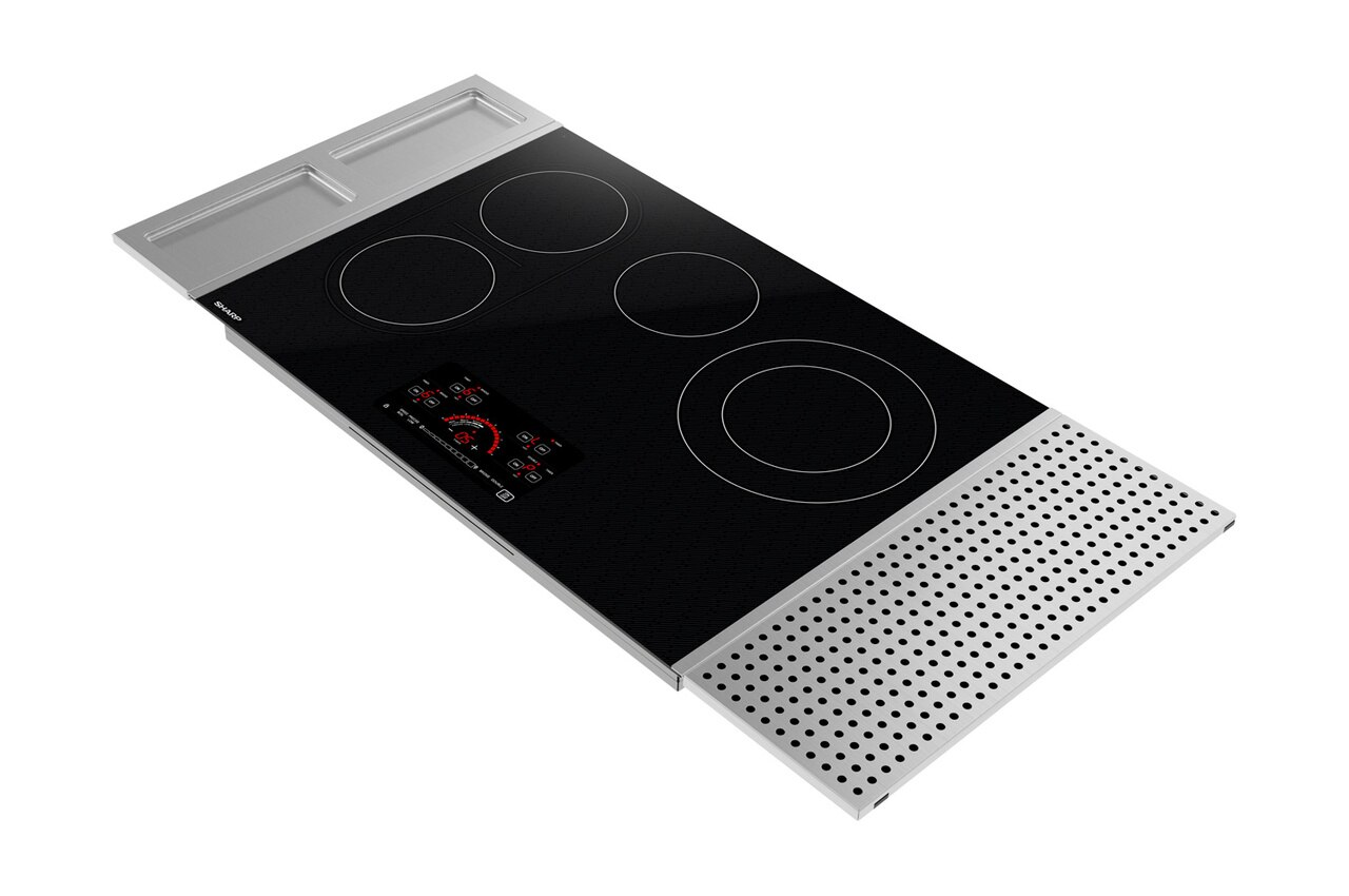 30-inch Drop-In Radiant Cooktop with Side Accessories (SCR3042FB) - rear left angle view