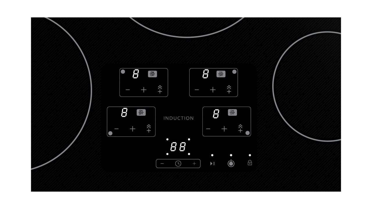 30-Inch Black Cooktop (SDH3042DB) – control panel