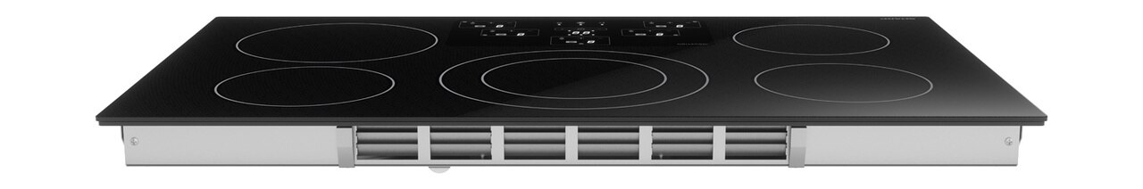 36-Inch Black Cooktop (SDH3652DB) – rear view