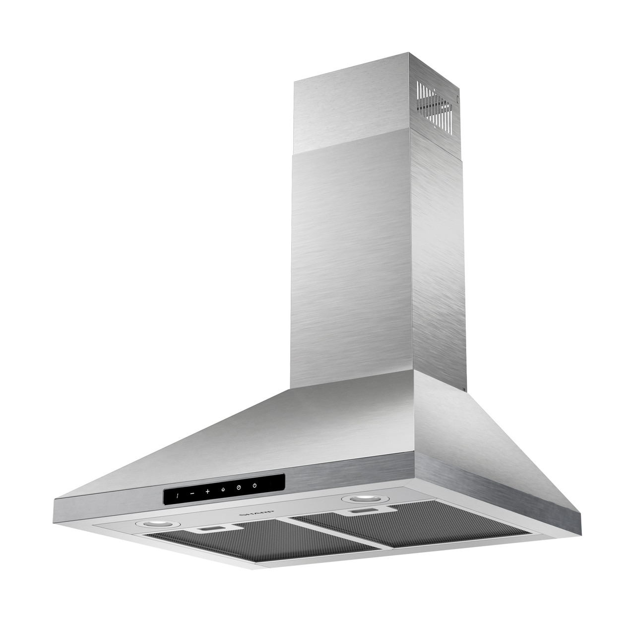 "24"" Wall Mount Chimney Range Hood (SHC2432FS)- left angle view"