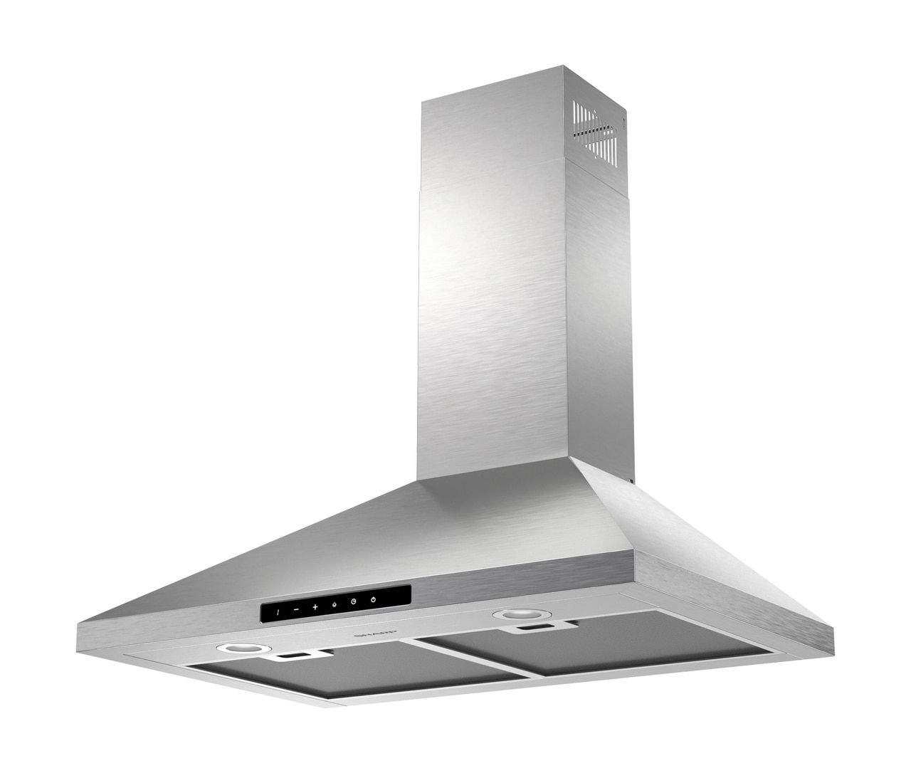"3-Speed 30"" Wall Mount Chimney Range Hood (SHC3042FS) - left angle view"