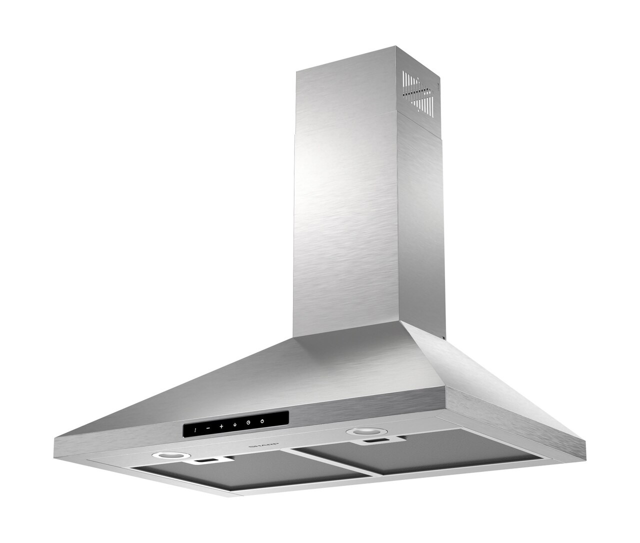 "4-Speed 30"" Wall Mount Chimney Range Hood (SHC3062FS) - left angle view"