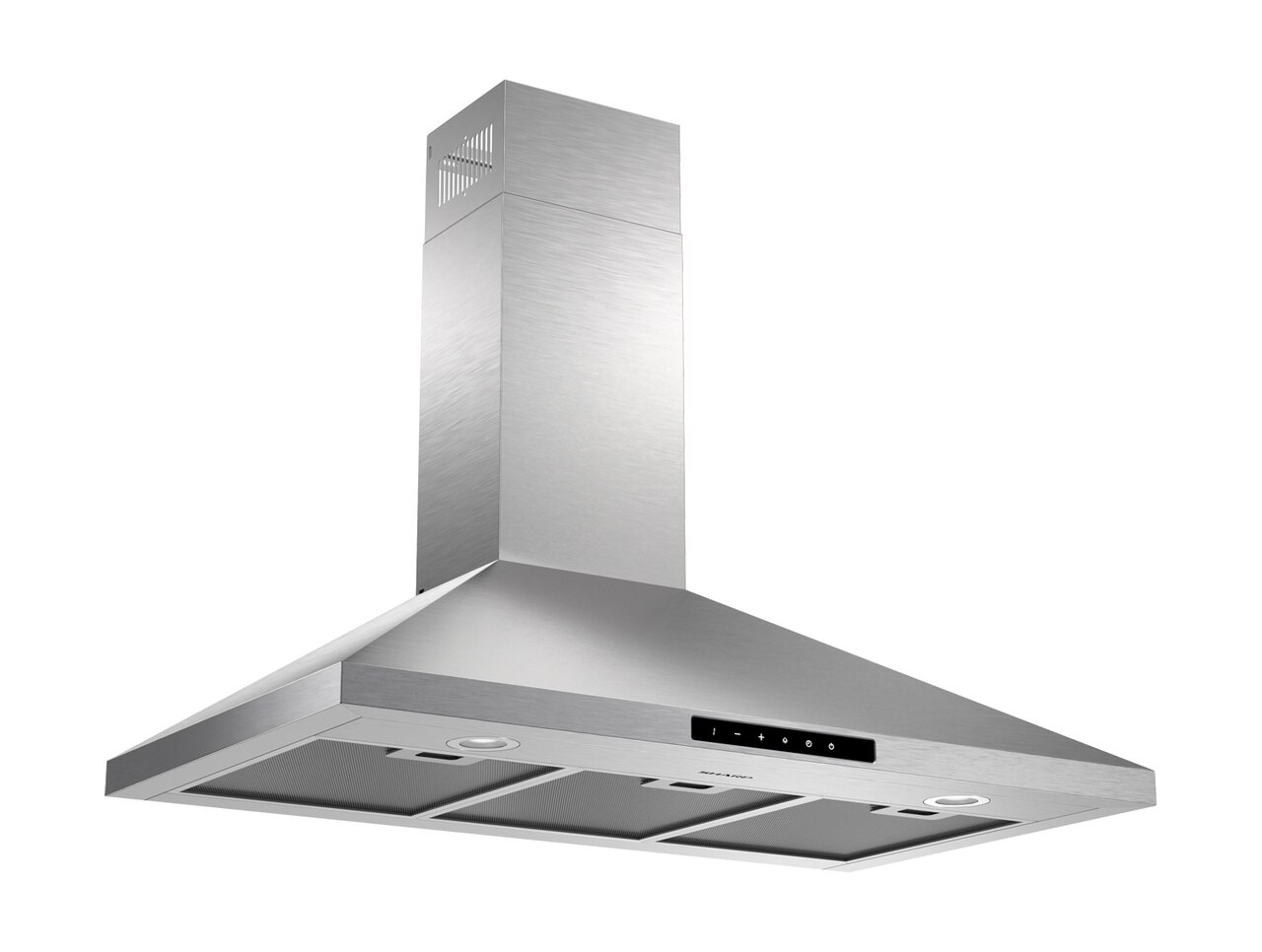 "36"" Wall Mount Chimney Range Hood (SHC3662FS) - right angle view"
