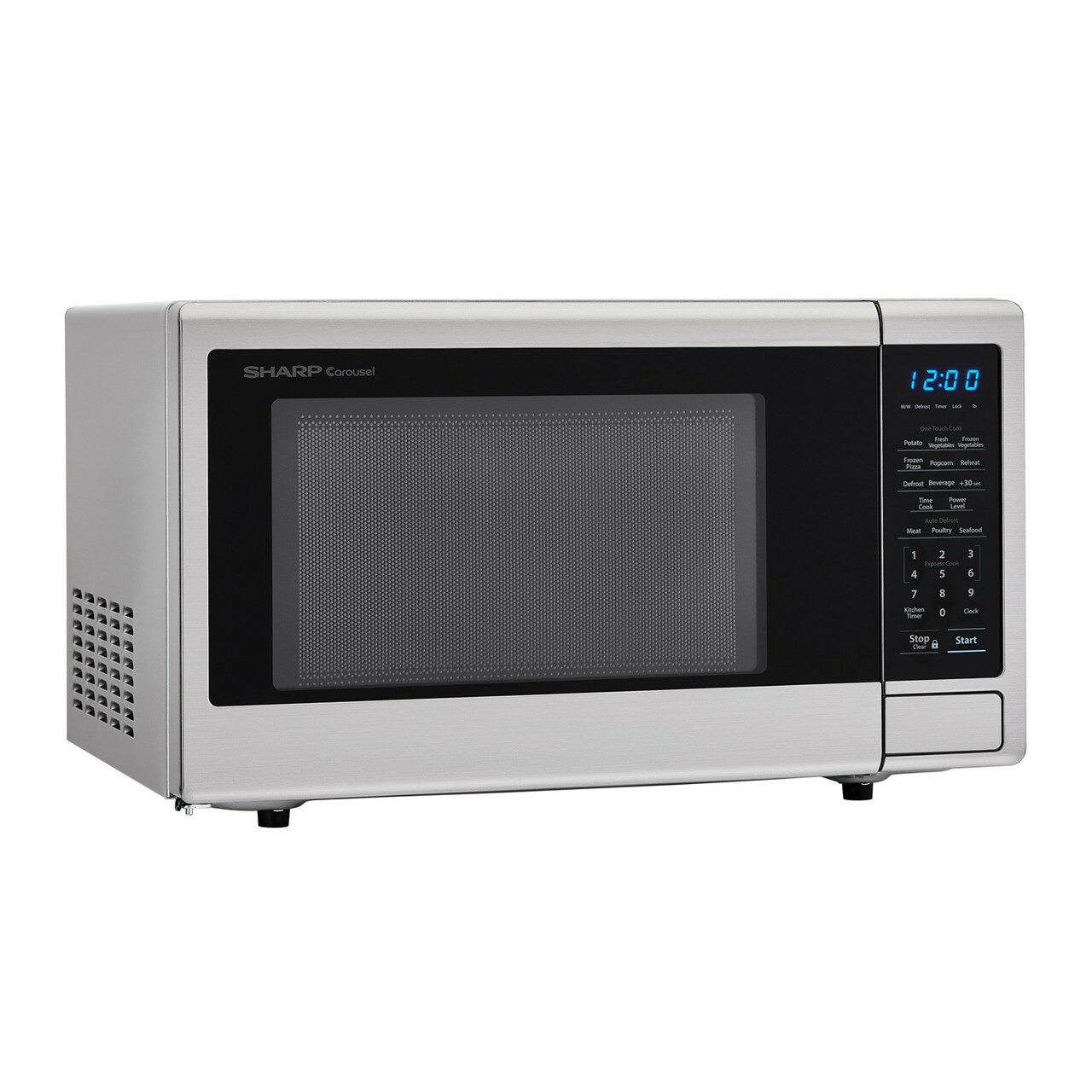 1.1 cu. ft. Sharp Stainless Steel Countertop Microwave (SMC1132CS) – right angle view