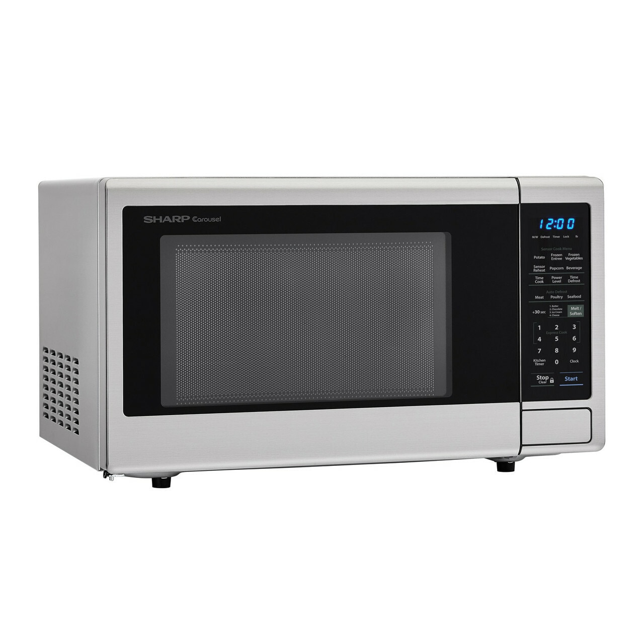 1.4 cu. ft. Sharp Stainless Steel Countertop Microwave (SMC1442CS) – right angle view