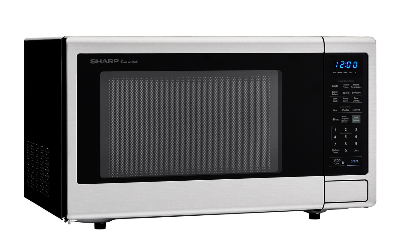 1.8 cu. ft. Stainless Steel Countertop Microwave (SMC1840CS) – right angle view