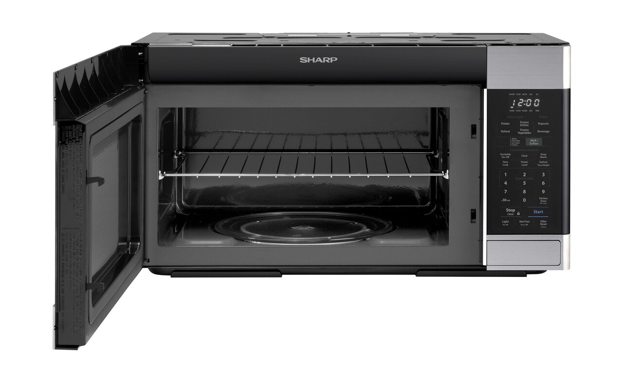 1.6 cu. ft. Stainless Steel Over-the-Range Microwave Oven (SMO1652DS) - front view with door open