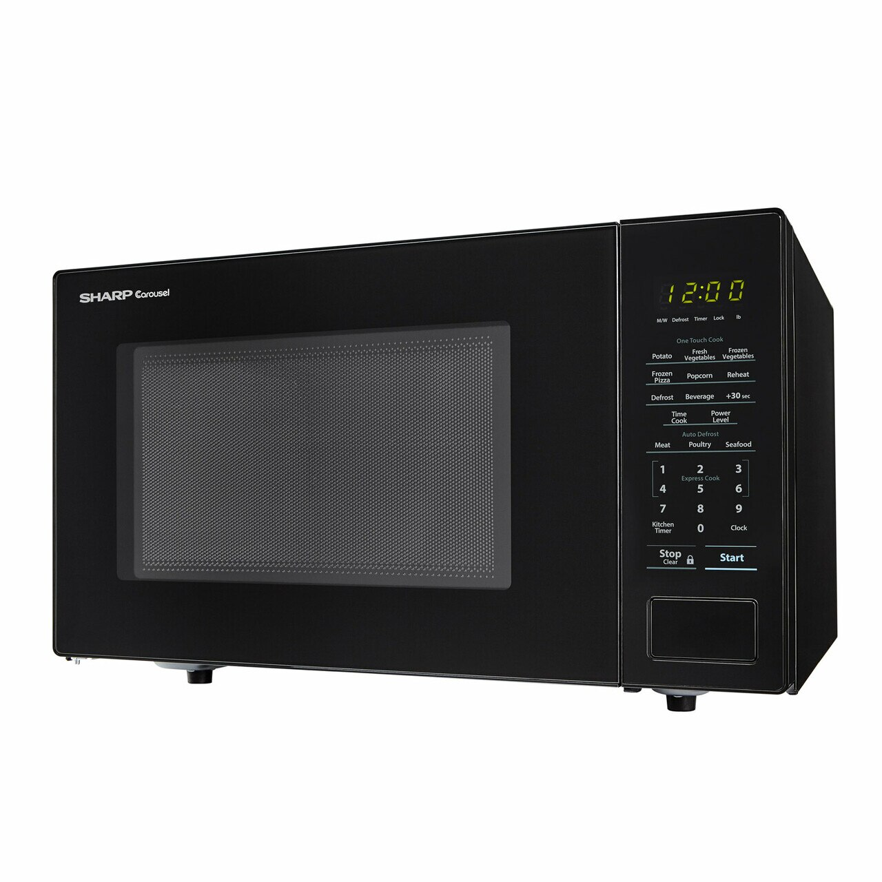 Sharp 1.1 cu. ft. Black Countertop Microwave (SMC1131CB) – left side view