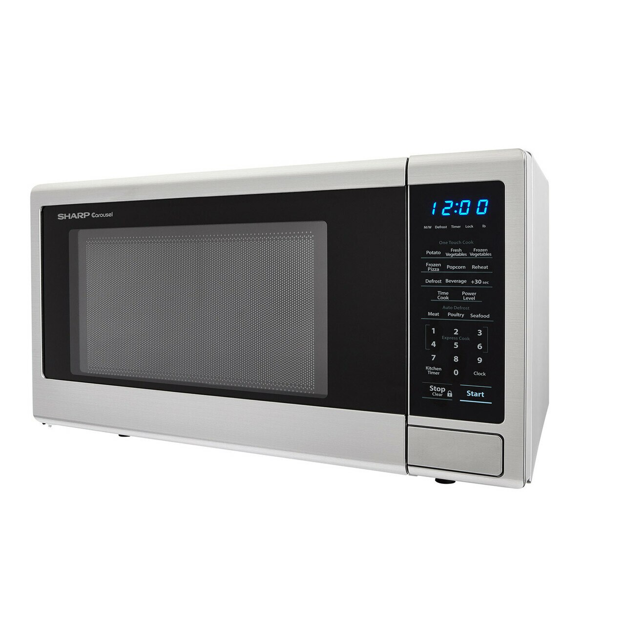 1.1 cu. ft. Sharp Stainless Steel Countertop Microwave (SMC1132CS) – left side view