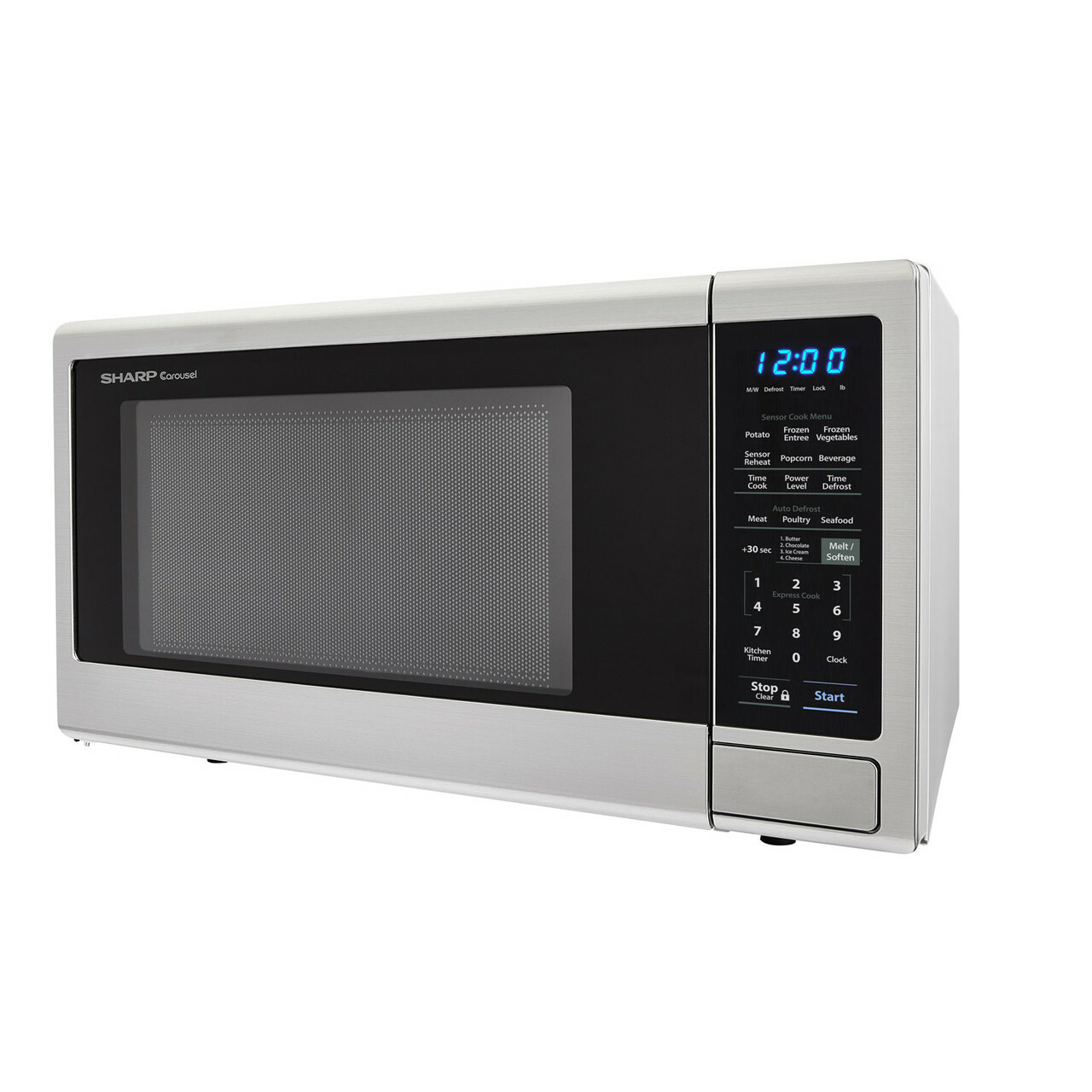 1.4 cu. ft. Sharp Stainless Steel Countertop Microwave (SMC1442CS) – left side view