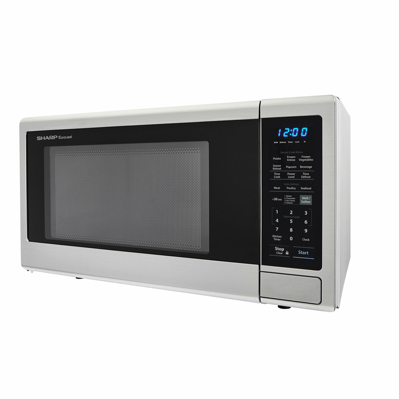 1.8 cu. ft. Sharp Stainless Steel  Countertop Microwave (SMC1842CS) – left side view