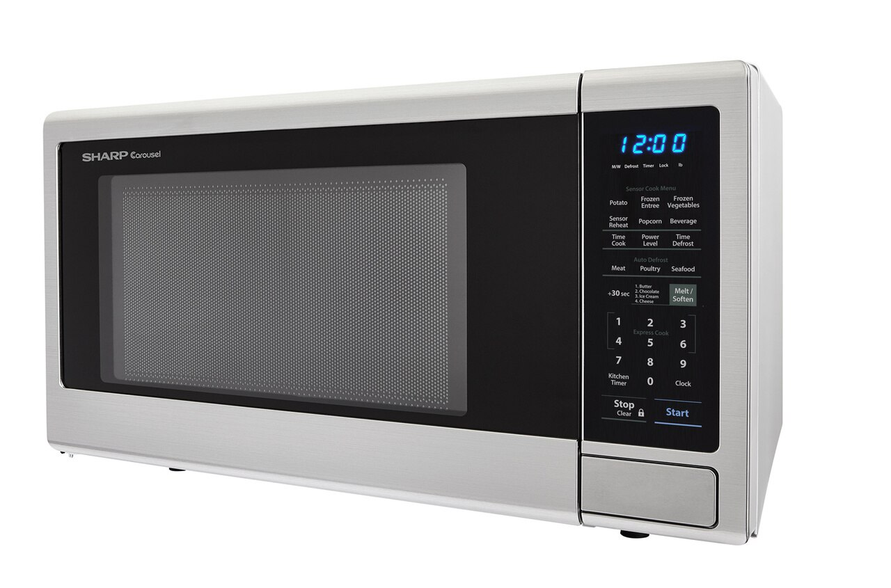 2.2 cu. ft. Stainless Steel Countertop Microwave (SMC2242DS) – deep left angle view