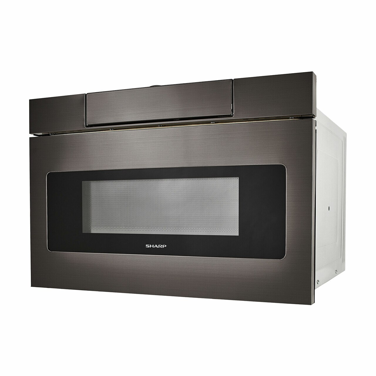 24 in. Black Stainless Steel Microwave Drawer (SMD2470AH) – left side view